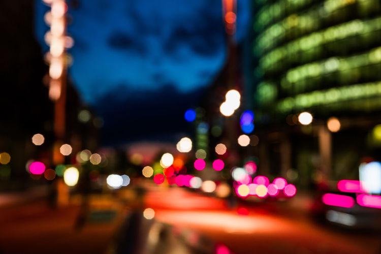 Berlin Blur Bokeh City Lights Colorful Night Night Lights Street Urban