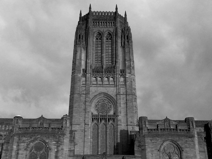 Architecture Travel Destinations Built Structure History Religion No People Black & White Monochrome Cathedral Liverpool, England Cityscape Architecture
