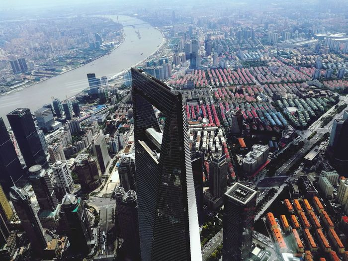 Shanghai Shanghai, China The Bottle Opener Pudong Pudong Pudong Skyline Shanghai❤ Travel China City Skyscraper On Top Of The World Cityscape Aerial View Architecture Skyscraper City Urban Skyline Modern Building Exterior No People Day Sky