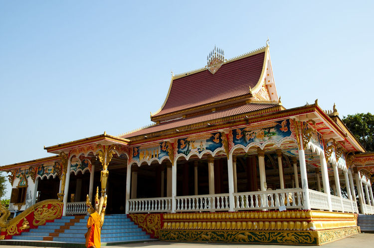 Temple in Pha That Luang Vientiane Laos Pha That Luang Temple