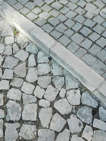 Street stones Street High Angle View Pattern Textured  Stone Tile No People Day Outdoors Huawei Shots Huawei P8 Lite Street Stone Ground View Ground Floor Calçada