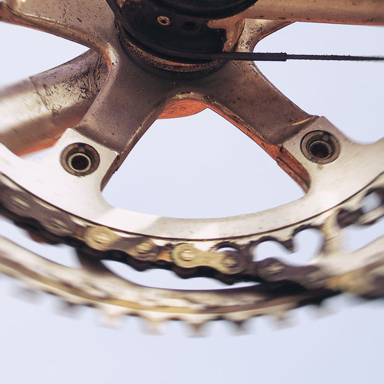 Tour de France starts ... bicycle details Bicycle Bicycle Chain Bike Chainring Close-up Detail Fast Forward Move Movement Racing Racing Bike Selective Focus Tour De France