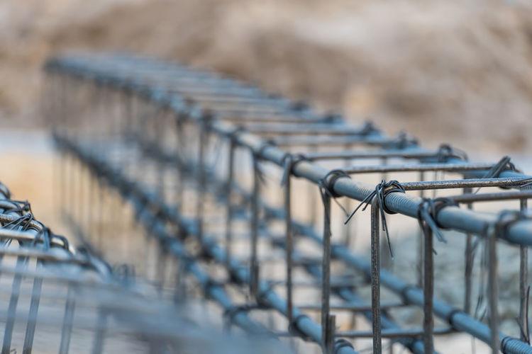 Close-up of metallic railing