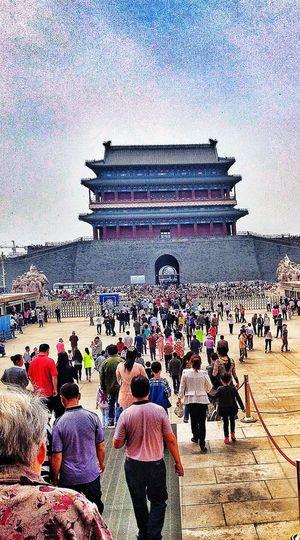 China Beijing People Taking Photos