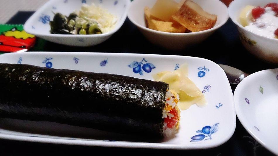 清寿司さんの恵方巻き☆ Dinner Foodporn Japanese Food Delicious Sushi 恵方巻き