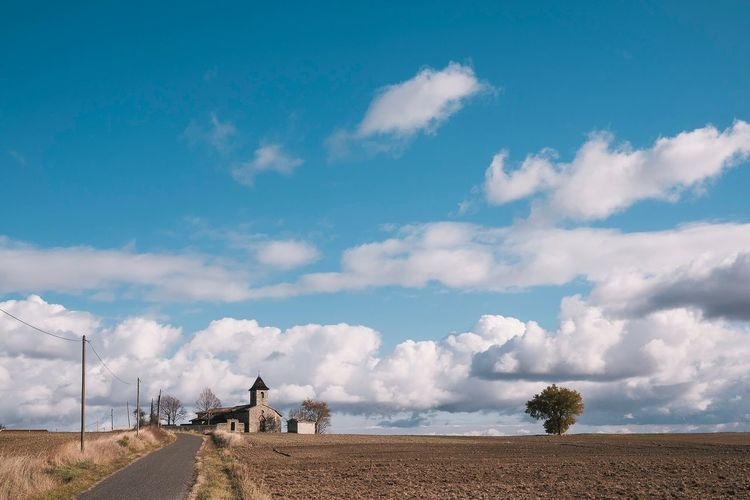 The church Sky Cloud - Sky Land Landscape Environment Tranquil Scene Nature The Great Outdoors - 2018 EyeEm Awards
