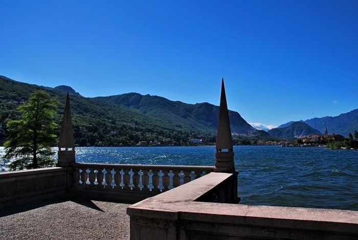 Isola Bella, Lago Maggiore , Italy Architecture Beauty In Nature Blue Built Structure Clear Sky Day Lake Mountain Mountain Range Nature No People Outdoors Scenics Sky Tree Water