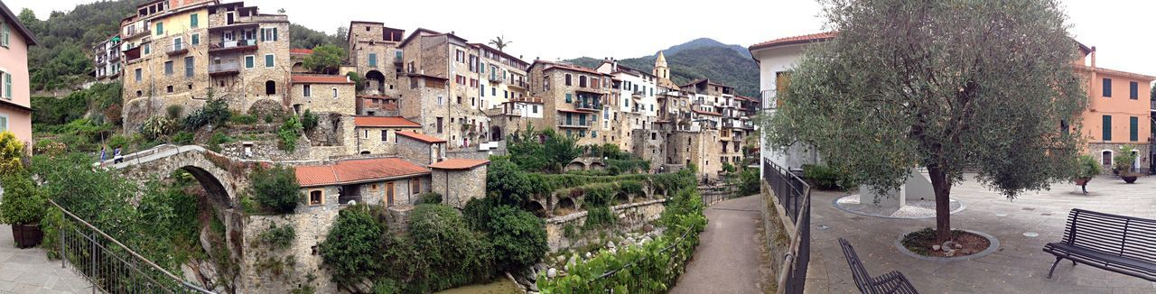 Liguria Italy a small town near the Mediterranean  Sea , Summer 2016 Photography Tourism Architecture Built Structure Building Exterior Residential Building Residential Structure House Tree Town Residential District Day Outdoors Sky No People Weathered City Life Curve Fortified Wall