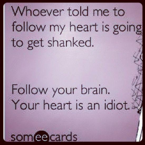 Followyourheart Shaken Yourhead Badadvice
