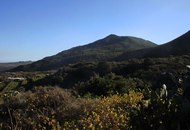 Pantelleria Beauty In Nature Blue Clear Sky Day Landscape Mountain Nature No People October 2015 Outdoors Plant Sky
