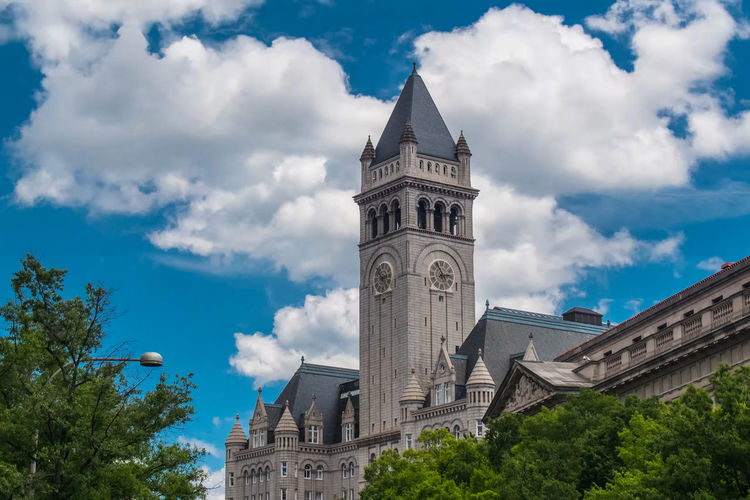Architecture Building Building Exterior Built Structure City Clock Clock Tower Cloud - Sky Day Government History Low Angle View Nature No People Outdoors Plant Sky The Past Time Tower Travel Travel Destinations Tree