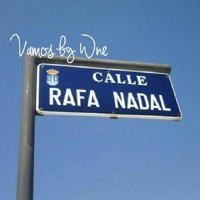 Day16 Julyphotochallenges : sign, road sign named Rafa Nadal Alfanova Wnephotochallenges overlays overlay