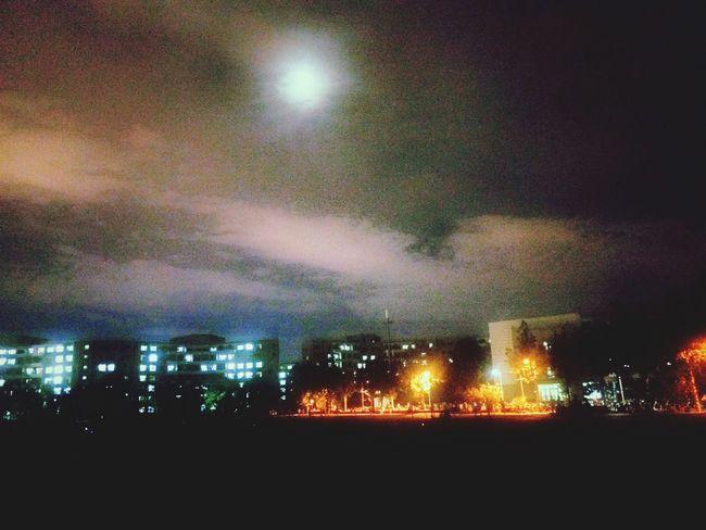 Walking Around Light Night Cityscapes University Campus BEIJING北京CHINA中国BEAUTY