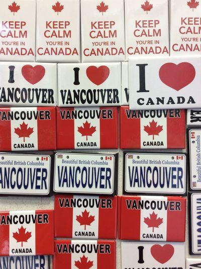 Vancouver Canada Fridge Magnets Tourist Shop Autumn Morning October