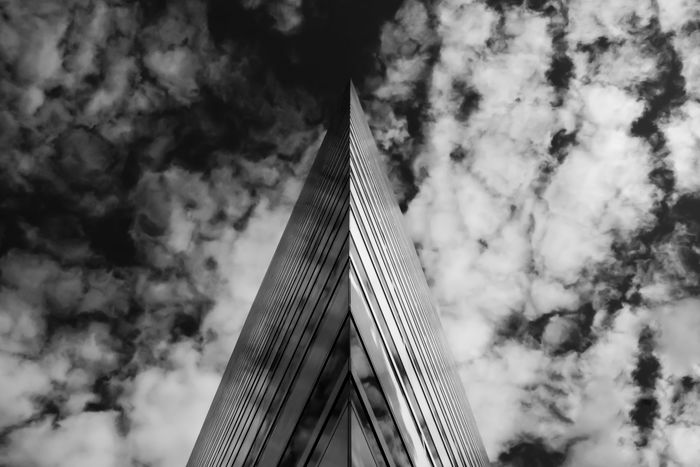 The Gateway Architectural Feature Architecture Blackandwhite Built Structure City City Life Cloud - Sky Cloudy Directly Below Low Angle View Modern No People Office Building Singapore Sky Skyscraper Tall - High Upward View