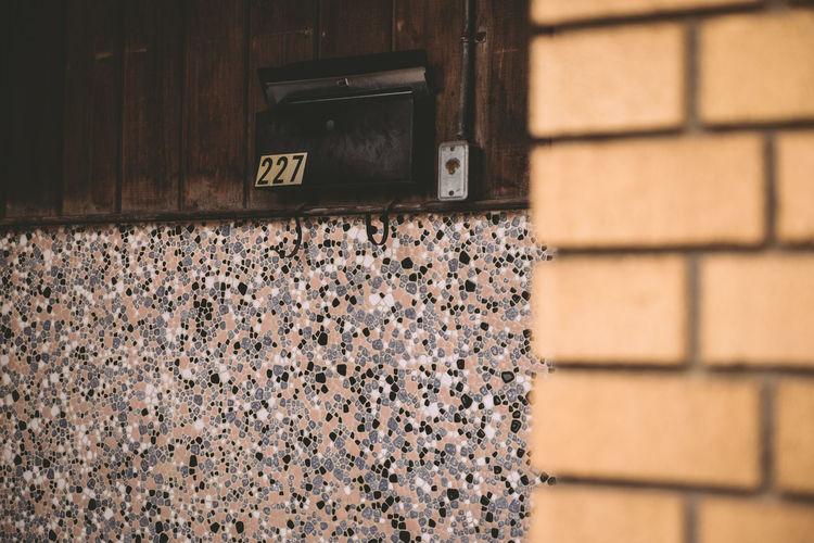 Number on metallic mailbox