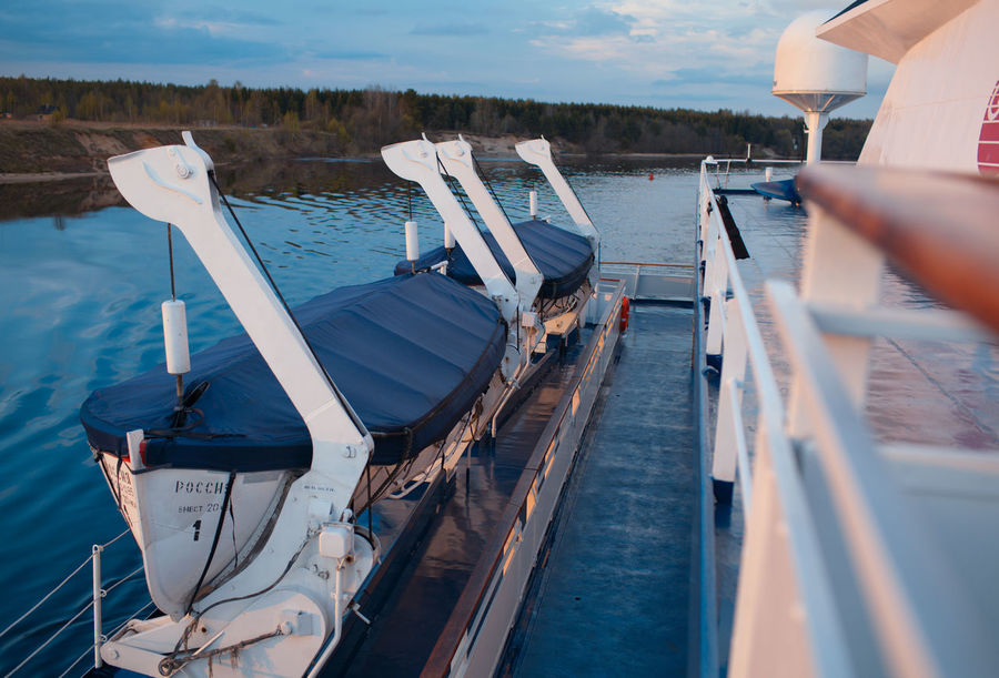 Area Bar Cruise Deck Floor Lounge Nobody Outdoors Ship Stern Table Tour Tourism Vacation Volga