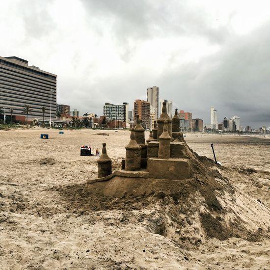 Sand Castle Building A Sand Castle Majestic Skyline Durban Life