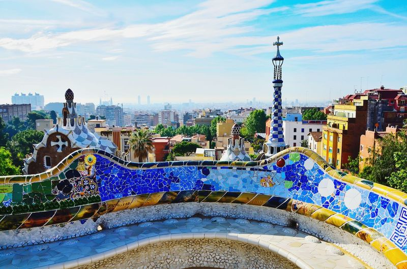Barcelona - Park Guëll Park Guell Barcelona Barcelona♡♥♡♥♡ City Architecture Cityscape Building Exterior Multi Colored No People