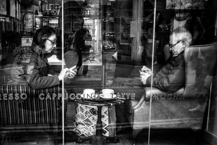 Window Reflections Window Photography No Communication Ignorance Black And White Blackandwhite Photography Monochrome Eye4photography  Street Urbanphotography Streetphotography Monochrome Photography EyeEm Best Shots Open Edit OpenEdit Black & White Capture The Moment Streetphoto Candid Moments Real People Cafe Break Pondering The Meaning Of Life Pondering City People