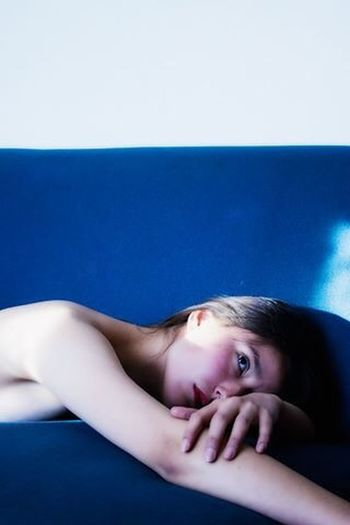 Blue. Portraits Blue The Portraitist - 2014 EyeEm Awards RePicture Femininity