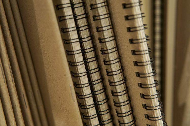 Full frame shot of notebooks