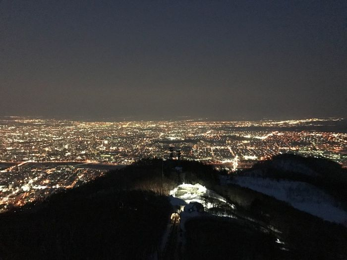 Cityscape No People Night Outdoors Nature Landscape Aerial View Scenics Beauty In Nature Illuminated City Mountain Sky