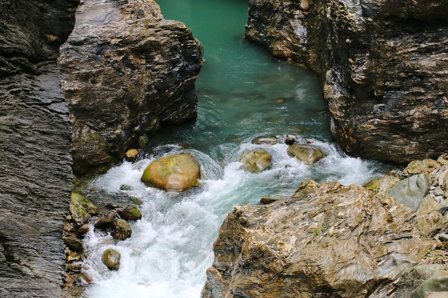 Viamala Schlucht Water Canyon River River View Water Beach High Angle View
