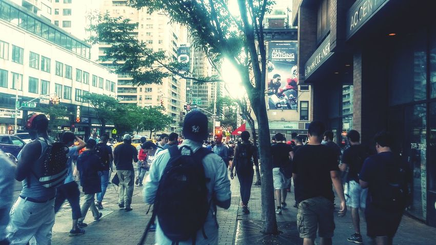 Pokemon Go players on the run in NYC. Pokemon Go . Pokemon Hunting Crowds Crowded Street Crowded People Crowded People Walking  People Photography Internet Addiction