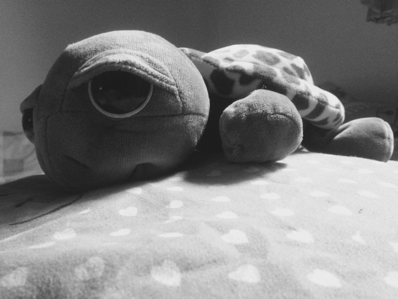 indoors, childhood, no people, close-up, stuffed toy, bed, day