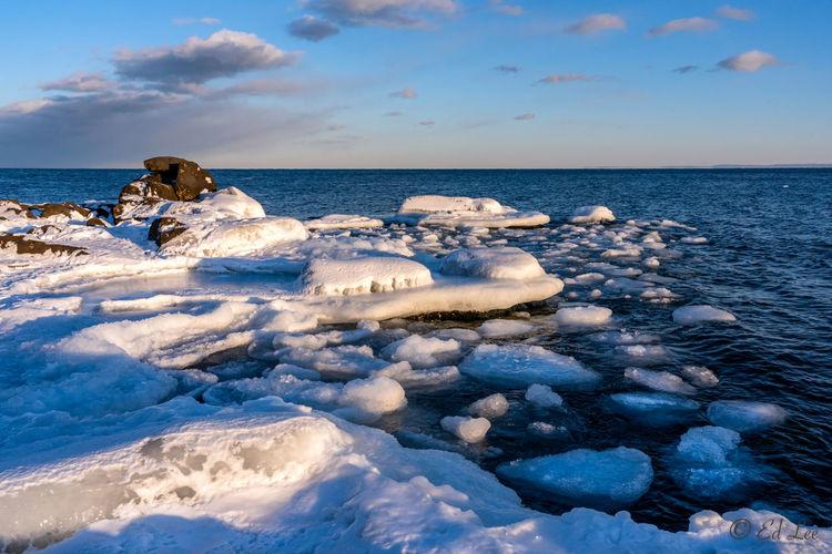 Ice at brighton beach