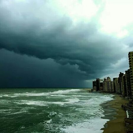 Alexandria Egypt Aboqir Thunderstorm Winter Building Photoshoot Photoday Beach Sea And Sky Seascape Sea