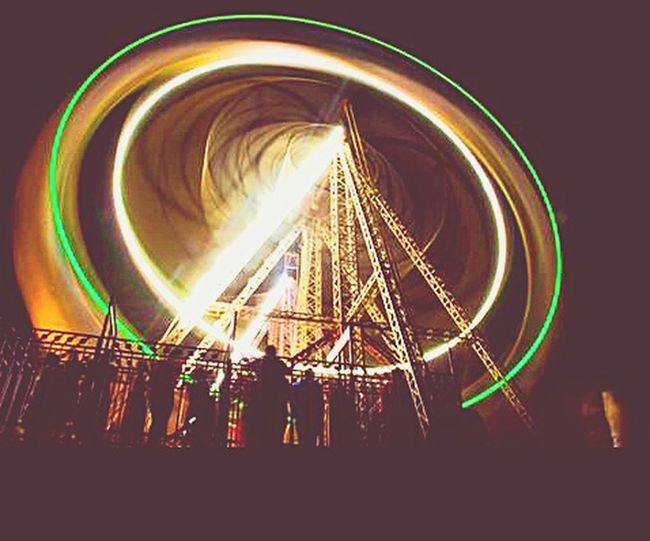 Capturing Motion Ferris Wheel Amusement Park Ride Outdoors Nightlife This Week On Eyeem Colors and patterns Swings Indian Style MELA Roller Coaster Rides Happiness