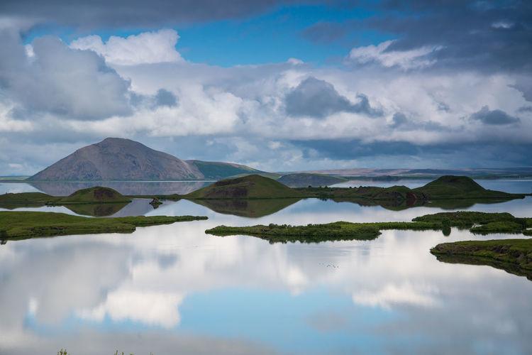 Panoramic view of lake against sky