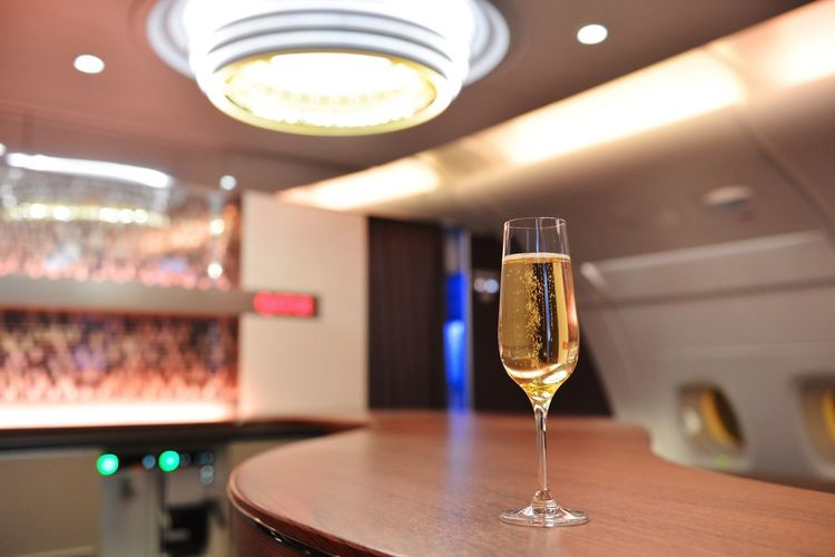 InFlightPhoto Lounge Champagne Drunk head:) Airbus A380