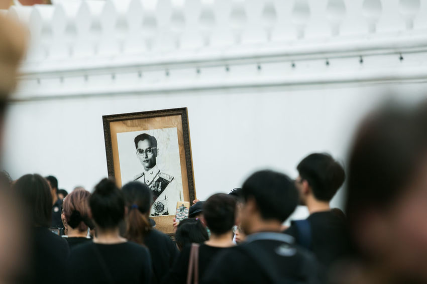 sadly thailand Adult Art Audience Bangkok Business Crowd Day Funeral Indoors  Medium Group Of People Men People Picture Projection Screen Rama 9 Real People Sadly Sanam Luang Sanam Luang Bangkok Seminar Student Thailand Unhappy University Women