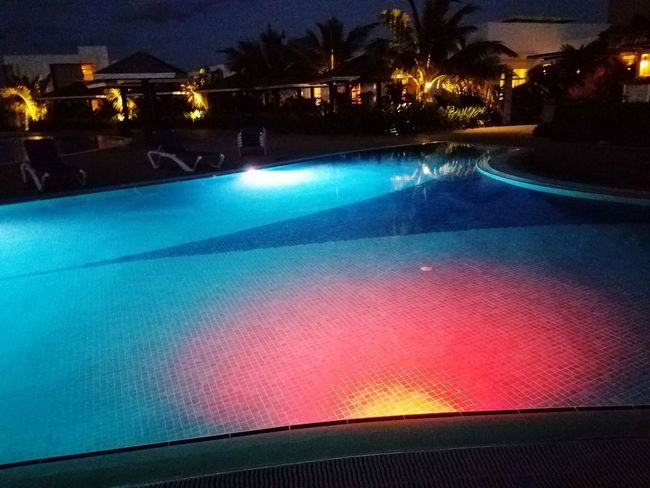 Cayo Coco Cuba Water Illuminated Swimming Pool Hot Spring Luxury Heat - Temperature Tree Sky