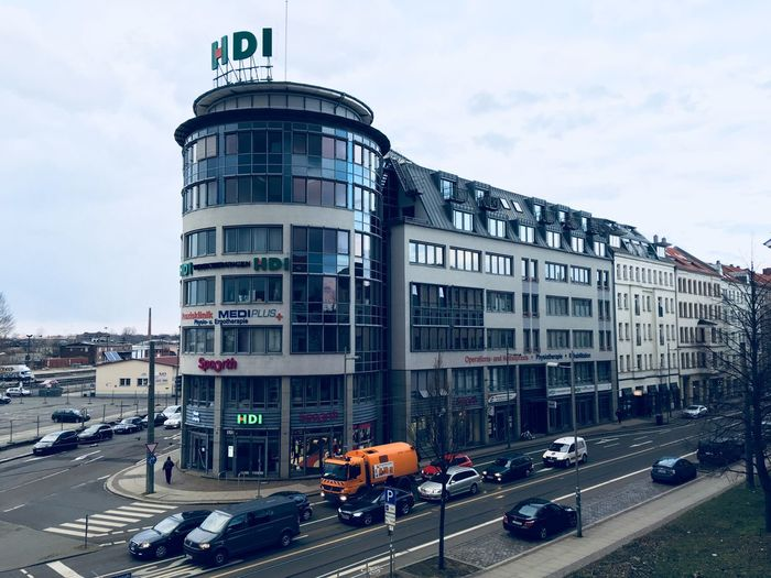 Pulsing Leipzig Leipzig Architecture Built Structure City Sky Mode Of Transportation Street Transportation Incidental People Land Vehicle Cloud - Sky Building