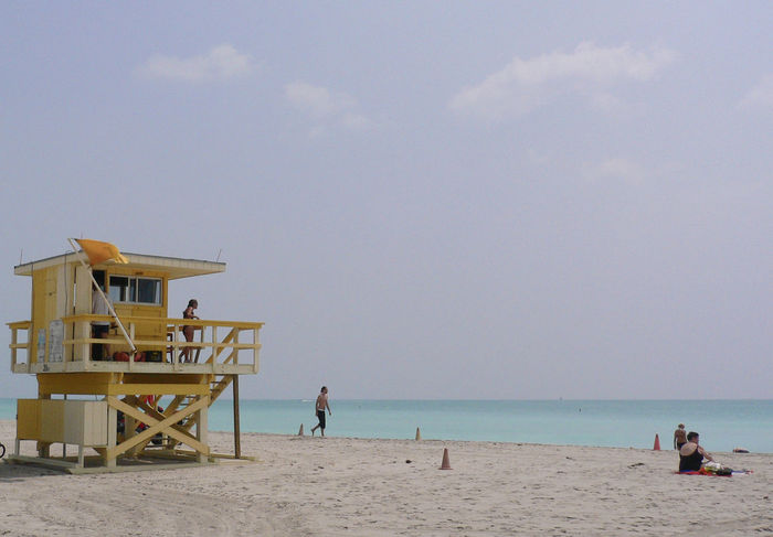 Tranquil Baywatch Baywatch Beaches Of The World Florida Horizon Over Water Miami Beach Pastel Pastel Power Sand Sea Shore Summer Sunny Beach Travel Photography Traveling Turquoise Turquoise Water USA Voyages Paint The Town Yellow Summer Sports