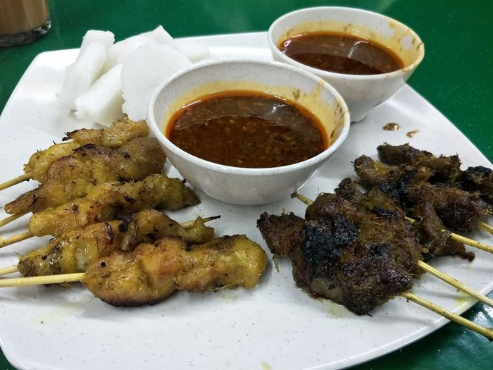 chicken and beef satay EyeEm Selects Food And Drink Food Ready-to-eat Indoors  Freshness Healthy Eating No People Plate