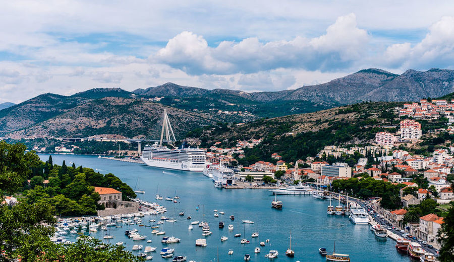 Port Of Dubrovnik Dubrovnik Croatia Boat Ship Summer Travel Photography Landscape Cityscapes View