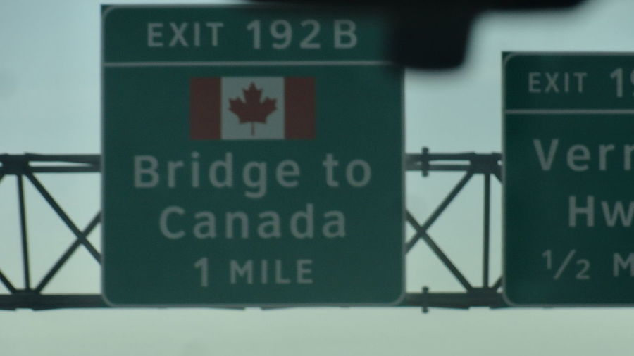 #Canada 1mile Bridge To Canada Sign Close-up Communication Day Indoors  No People Text