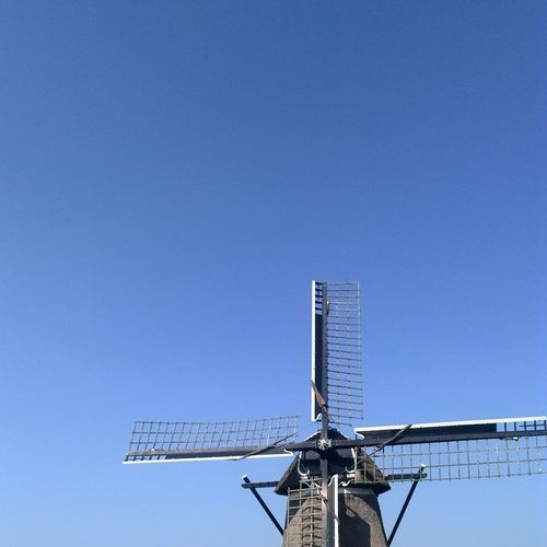 Low angle view of traditional windmill