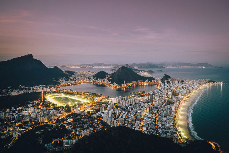 Scenic view of rio de janeiro during sunset