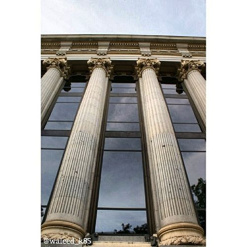 Pillars of Institutocervantes . At CalleDeAlcalá CalleAlcala near the PlazaDeCibeles PlazaCibeles. madrid Spain españa. Taken by my sonyalpha dslr a200. Taken in my 2012 summer trip مدريد اسبانيا معهد
