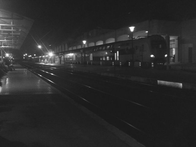 Waiting For The Train Cold Rabat Agdal Night