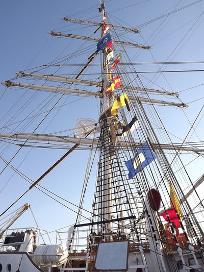Blue Built Structure Day Low Angle View Outdoors Portugal Ship Sky Tall Tall - High Tourism Travel Destinations Ilhavo No Filter, No Edit, Just Photography