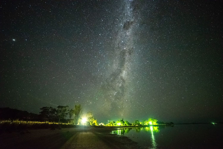 Milky Way over Cremorne beach Clear Sky Constellation Galactic Core Astronomy Beauty In Nature Galactic Center Galaxy Idyllic Illuminated Lake Milky Way Nature Night No People Outdoors Scenics - Nature Sky Space Star Star - Space Starry Night Tranquil Scene Tranquility Water Waterfront