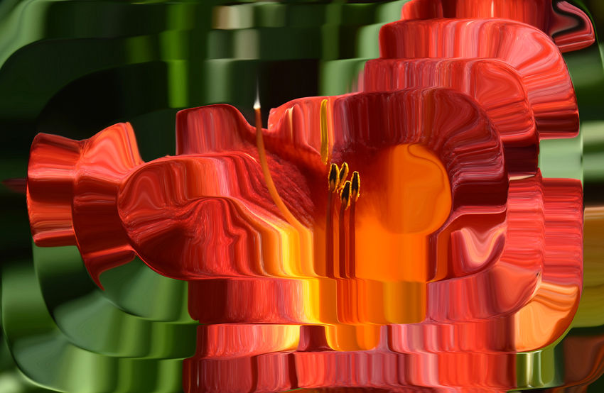 Adobe Flower Green Color Nature Orange Color Orange Flower Distortion Showcase July Distortions  Distort Art Tealight Candle Spiral Lily Flower Fine Art Photography Abstract Playing With Effects 43 Golden Moments Color Palette