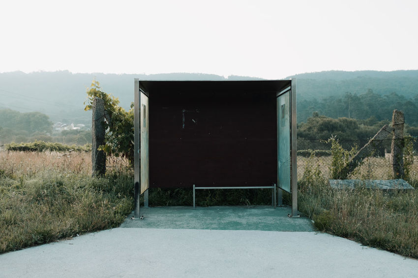 LOST IN GALICIA 🚌 Architecture Tree Built Structure Plant No People Day Nature Building Exterior Outdoors Land Bus Stop Lostingalicia Threeweeksgalicia Sky Entrance Door Window Landscape Mountain Grass Environment Open Copy Space